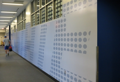 wall graphics in a gym