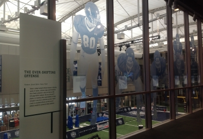 window graphics of football players