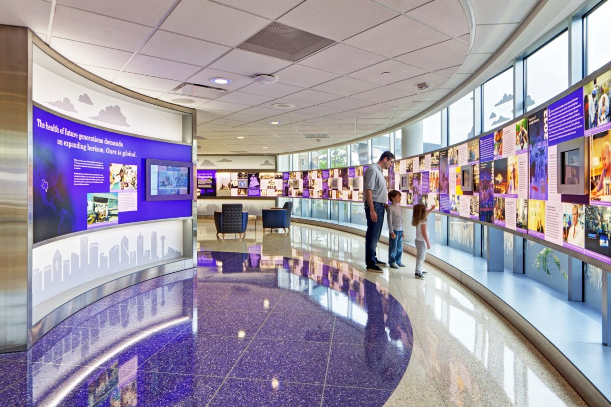 children's hospital curved displays